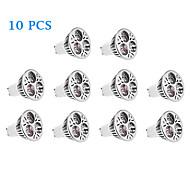4W GU10 LED Spotlight 3 High Power LED 220 lm Warm White / Natural White AC 220-240 V 10 pcs