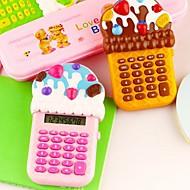 8-sifret iskrem formet tegneserie kalkulator (tilfeldig farge)