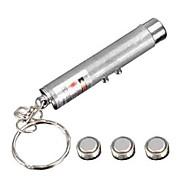 mini 2 in1 nøkkelring belysning ledet lommelykt lommelykt rød laser pekeren penn