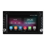Universeel Auto DVD-speler Android4.4 2 Din 6.2 inch 800 x 480Built-in Blauwtooth/GPS/Rds/3D-interface /Stuur Control/3G (WCDMA)/Wifi/Subwoofer
