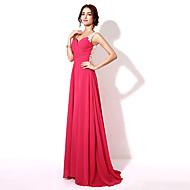 Formal Evening Dress-Fuchsia Plus Size / Petite A-line Sweetheart Floor-length Chiffon
