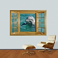 3D Wall Stickers Wall Decals, Dolphin Decor Vinyl Wall Stickers