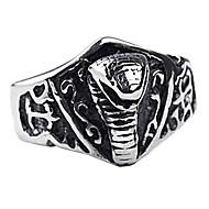 osobní dar, módní šperky z ušlechtilé oceli ryté pánský prsten