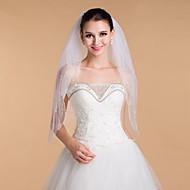 Wedding Veils Women's Elegant Tulle Beaded Edge Veils