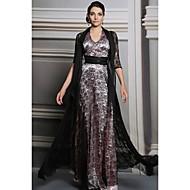 A-line Halter Floor-length Evening Dress(31213)