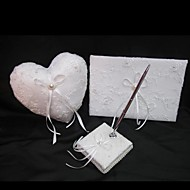 collezione matrimonio alla moda ubicato in raso bianco con ricamo squisito (3 pezzi)