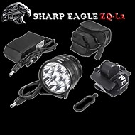 SHARP EAGLE/ZQ-L2 3Mode 9XCREE XM-L2 LED Hesdlamp(10800LM.4X18650.Black)