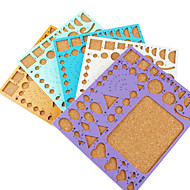 sjabloon voor make quilling papier diy ambachtelijke kunst decoratie (willekeurige kleur, 21x18cm)