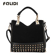 Falidi® Women'S Retro Fashion Commuter Shoulder Bag Leisure Bag Rivets Scrub