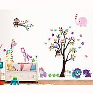 colorido árbol de la historieta pegatina patrón pvc extraíble ambiental