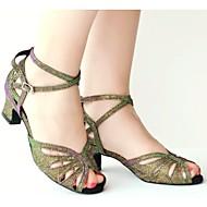 Sapatos de Dança ( Verde/Roxo ) - Mulheres - Customizáveis - Latim
