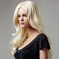 evropský a americký módní nové světlo zlaté dlouhé vlasy paruka