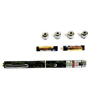 50mW 5 Pattern Caps Green Laser Pointer Pen Beam with One Color Box Include