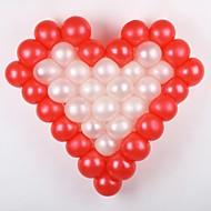 bryllupet innredning 50 stk ensfarget ballong med kjærlighet typen hylle-(hver farge 25 stk)