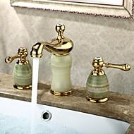 Bathroom Sink Faucet Widespread Contemporary Design Ti-PVD Finish Faucet