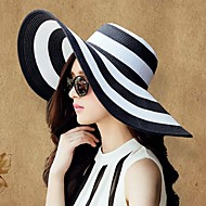 Women's Classic Black And White Keys Straw Ladies Outdoor/Casual/ Beach Hats