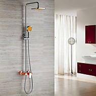 Contemporary Chrome Finish With Color Shower  Wall-mount Shower Faucet