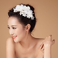Women's/Flower Girl's Rhinestone/Tulle/Imitation Pearl Headpiece - Wedding Hair Combs