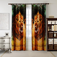AnTi™ One Panel  Home Fashion Modern Polyester Wild Lion Print Curtain