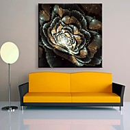 E-HOME® Stretched LED Canvas Print Art Flower Flash Effect LED Flashing Optical Fiber Print