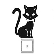 Switch Wall Stickers Wall Decals, Cartoon Cat  PVC Switch Sticker