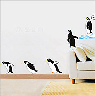 Environmental Removable Penguin PVC Tags & Sticker