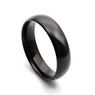 Black Simple Design Stainless Steel Mens Ring Size 8 9 10 11 12 R315