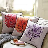 lençóis de algodão almofada impressão árvore