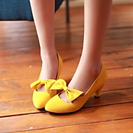 Zapatos de mujer - Tacón Robusto - Tacones / Puntiagudos - Tacones - Vestido - Vellón - Negro / Amarillo / Rojo