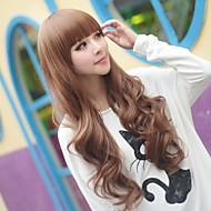 angelaicos vrouwen mode-stijl pony krullend golvend charmante lolita meisjes schattige partij haar volledige pruiken lang bruin zwart blonde