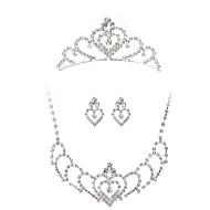 Child's/Women's Silver Jewelry Set Cubic Zirconia