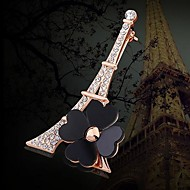 Tina -- European and American High-grade Romantic Eiffel Tower Alloy Brooch in Party