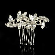 Wedding Party Bridal Bridesmaid Crystal Pearls Bridal Horse Eye Hair Comb
