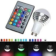 GU10 3W 110VRGB LED 16 Color Change Light Lamp Bulb + IR Remote Control