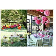 6st gemengde 3 maten (10cm, 15cm, 20cm) vloeipapier pom poms huwelijksfeest baby shower festival decoratie
