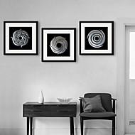 e-Home® inramade arbetsytan konst, silver cirkel inramade kanfastryck uppsättning av 3