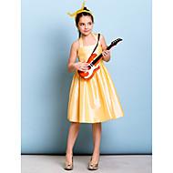 Lanting Bride® Knelang Taft Junior brudepikekjole A-linje Haltertopp med Belte / bånd / Krystallbrosje