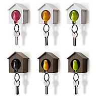 Σπίτι πουλί κλειδί αλυσίδα αποθήκευσης ράφι τοίχο φωλιά γάντζο σφυρί κλειδί δαχτυλίδι διοργανωτής κάτοχος τυχαίο χρώμα
