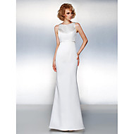 Prom / Formal Evening Dress - Ivory Plus Sizes / Petite Trumpet/Mermaid Jewel Sweep/Brush Train Satin / Sequined