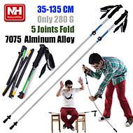 1pc NH Telescopic Folding Alpenstocks 7075 Aluminum Alloy Walking Stick Ultralight Trekking Pole Hiking Cane Camping