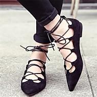 Chaussures Femme - Habillé - Noir / Violet - Talon Plat - Bout Pointu - Plates - Similicuir