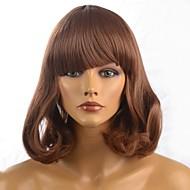Parrucca - Onda naturale - Donna - di Sintetico - Corta - Marrone