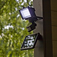 Moderne PIR Motion Sensor Solar LED vegglampe Hage Lights