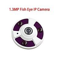 my502 1.3MP 360 ° fisheye panorama ip-kamera 3-ir-ledda stöd delad skärm