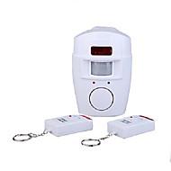 sistema de alarme infravermelho sem fio detecção de movimento com dois controles remotos para segurança em casa
