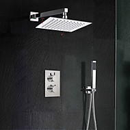 Ultra-thin Square Rainfall Show Thermostatic Mixer Valve& Hand Shower