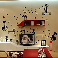Environmental Removable Cat PVC Wall Sticker