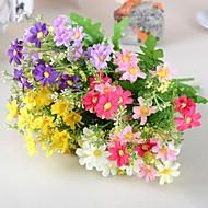 """12.9 """"l σύνολο 1 φυσικό 7 υποκατάστημα μαργαρίτες μεταξωτό ύφασμα λουλούδια"""