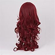 móda přírodní červená nakloněn třesk velká vlna umělých vlasů