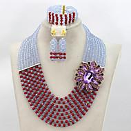 Smykker Set Dame Legering Krystall